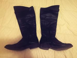 Botas caña alta - negro - talle 38