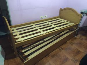 Cama antigua madera maciza muy buen estado posot class for Sofa cama de una plaza y media