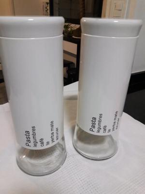 Frascos de vidrio con rosca muy prácticos