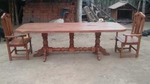 Vendo 5 mesas de pc algarrobo posot class for Mesa 2 metros comensales