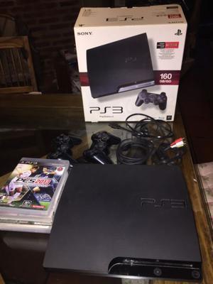 Playstation 3 Slim 160gb Con 5 Juegos Y 2 Joystick