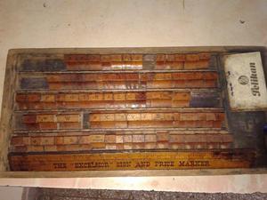 Sellos Antiguos De Madera ingleses en caja madera