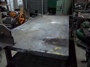 antiguo banco mesa rustica tipo de trabajo 4 cajones