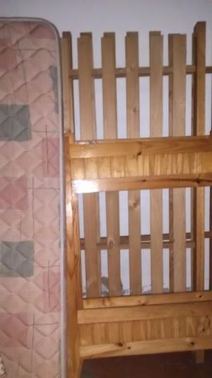 cama cucheta con colchones