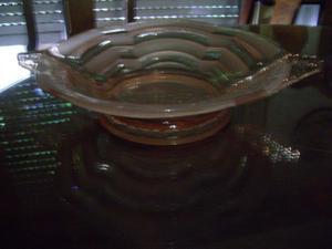 centro de mesa de cristal rosa