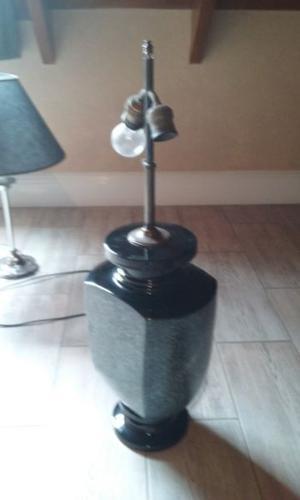 lámpara de ceramica para mesa o dressoir imitación granito