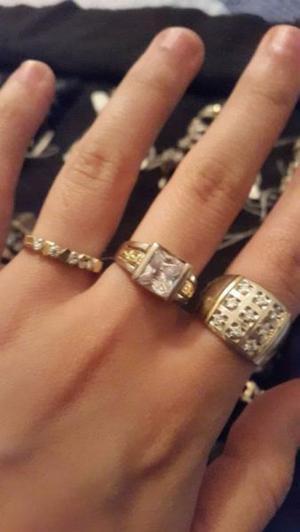 Anillos Plata y Oro, con piedras finas! hermosos!! desde