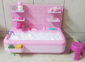 Bañera Para Muñeca Barbie Con Sistema Para Llenado Manual
