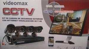 Kit CCTV de Vigilancia DVR y 4 Cámaras Oferta-Nuevo