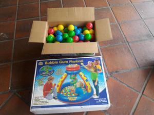 Pelotero inflable Buble Gum Playland para bebés niños