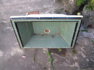 Pileta lavadero de cemento con ceramica por dentro posot for Piletas de cemento precios