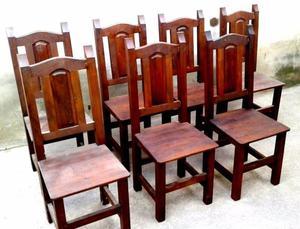 Vendo sillas y mesas de algarrobo DIRECTO DE FABRICA