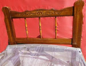 cama provenzal de 1 plaza con elástico metálico