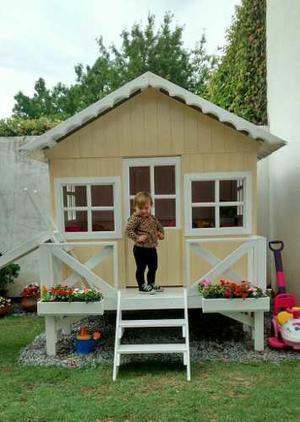 Casita infantil de madera posot class - Casita con tobogan para ninos ...