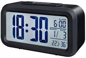 Despertador Reloj Luz Termómetro Fecha Alarma Diseño Y