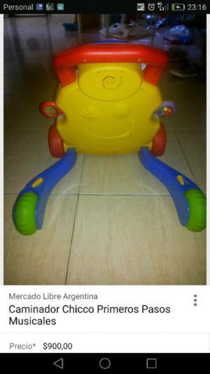 Mesa didáctica y andador de niño