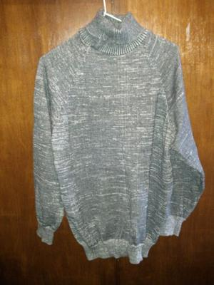 Sweater poleras de lana de hombre gris y blanca m usada 3ec7cfd74cb6