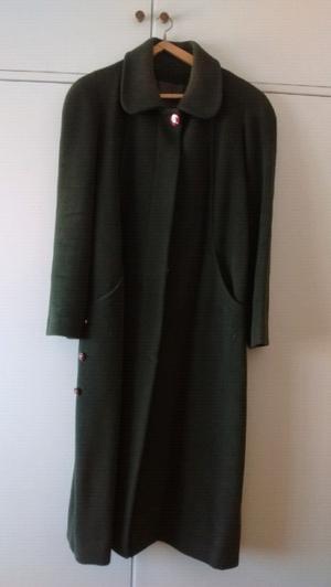 Tapado de lana verde Inglés NUEVO T.48