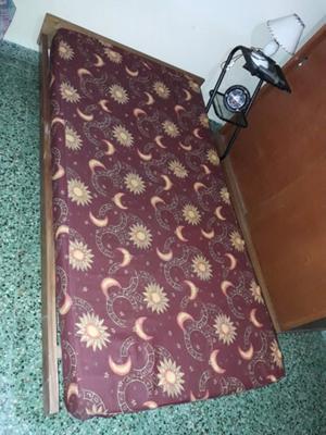 Cama turca de 1 plaza y media con colchon