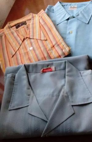 Camisa para hombre manga corta, talle L y XL