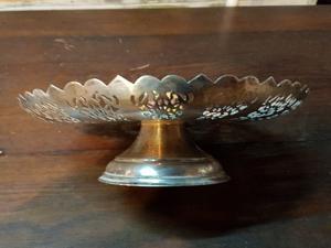 Centro de mesa bronce plateado
