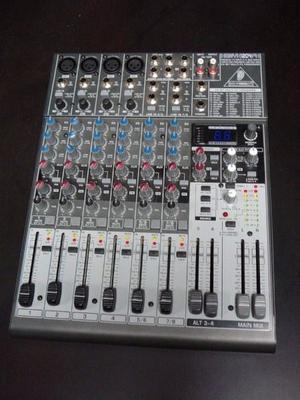 Consola Behringer xenyx 120y fx (100 efectos)