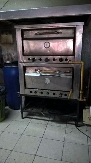 Horno Gastronomico, Pizzero 2 Bocas, Acero Inox