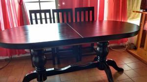 Juego comedor mesa extensible 8 sillas (algunas a reparar)