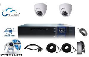 Kit Camaras De Seguridad Cctv Dvr 4 Hd 720p 2 Cam Ahd P2p