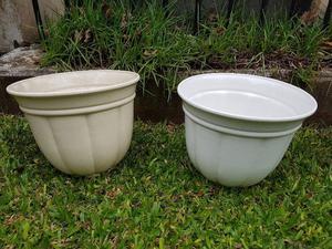 Macetas de ceramica (dos)