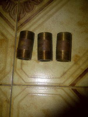 NIPLES DE BRONCE ROSCADO 3/4 X 5 Y 3/4 X 6