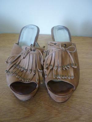 Sandalias de Plataforma con Flecos