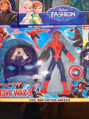 Set de Avengers con mascara con luz $559