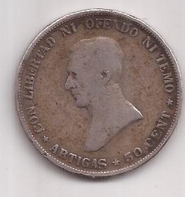 Uruguay Antigua Moneda Plata  Centesimos