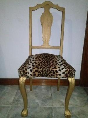 antigua silla chippendale única