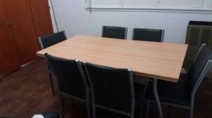 juego de mesas y 6 sillas