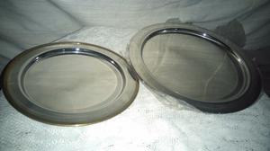 lote de platos de acero inoxidable de 20cm, 25cm y 29cm