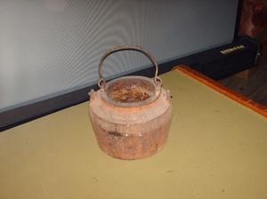 2 coleros de hierro antiguoa para calentar la cola para
