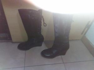Botas de. Cuero