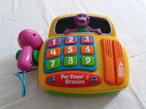 Caja registradora de Barney con luz y sonido