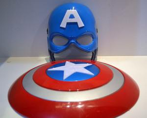 Escudo Capitán América Con Luz Y Sonido Marvel &máscara