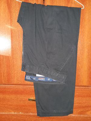 Pantalón de gabardina Dufour azul talle 48