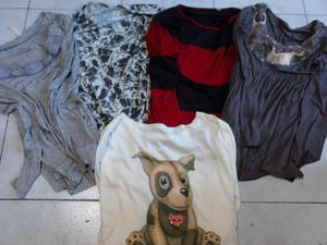 VENDO 5 REMERAS MANGAS LARGAS, TALLES M y L, $ 100 CADA