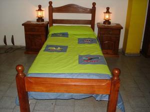cama de algarrobo 1 plaza y 1y1/2 plaza