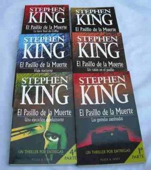 el pasillo de la muerte de king coleccion 6 libros$450