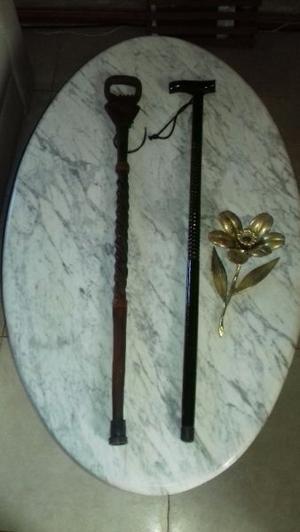 Antiguos bastones artesanales