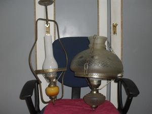 Dos lamparas colgante de techo
