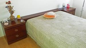 Juego de dormitorio completo marca Pochetino colchón marca
