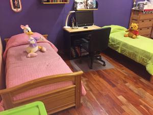 Juego de dormitorio juvenil/infantil de roble