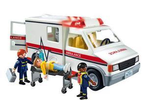 Playmobil Ambulancia Con Luz Y Sonido + 3 Figuras